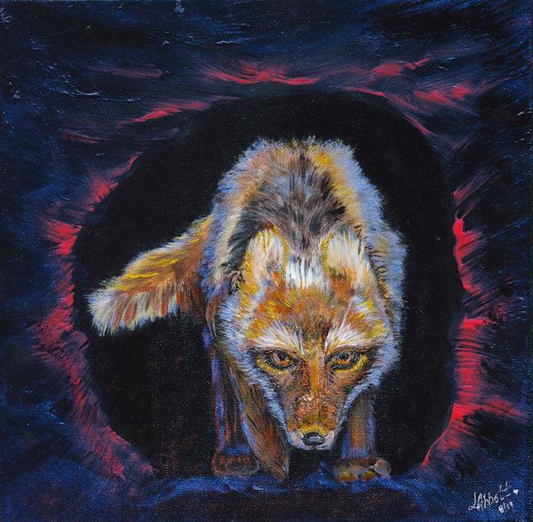 Snow Fox 500 Art   lisaabbott.art