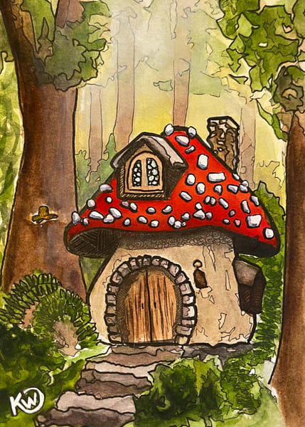 Fairy House 05 Art | Water+Ink Studios