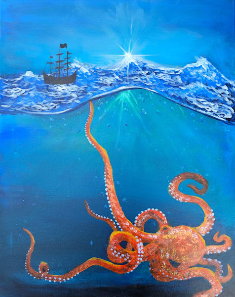 Kraken In The Storm Tote Bag Photography Art   Silver Sun Photography