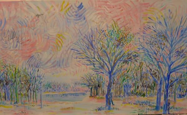 Blue Tree Forest Art | skibellart