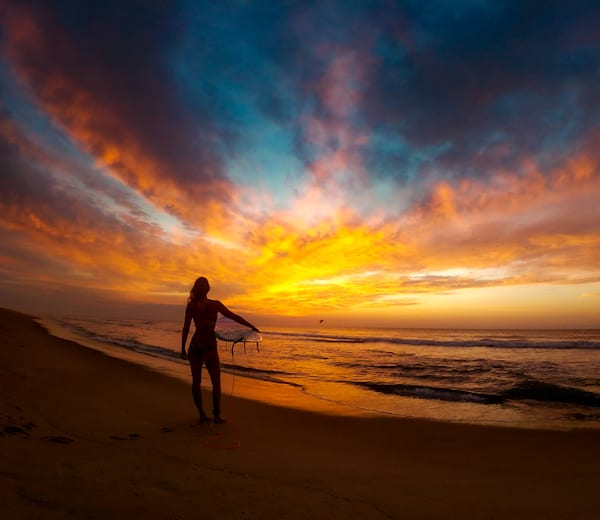 Sunrise Surf Tote Bag Photography Art   Silver Sun Photography