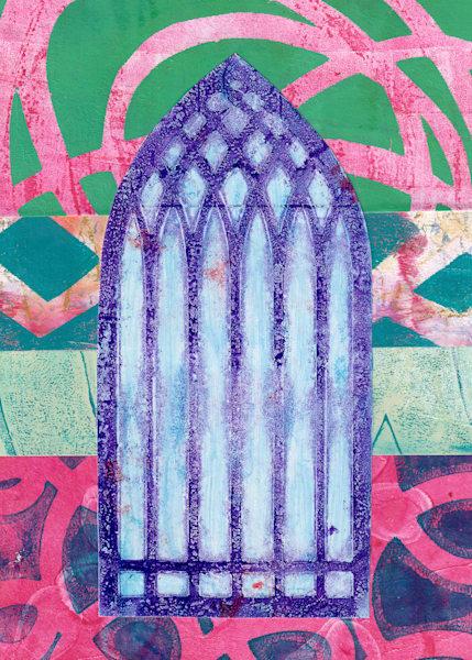 Window To Another World: A Fine Art Postcard Print by Jennifer Akkermans