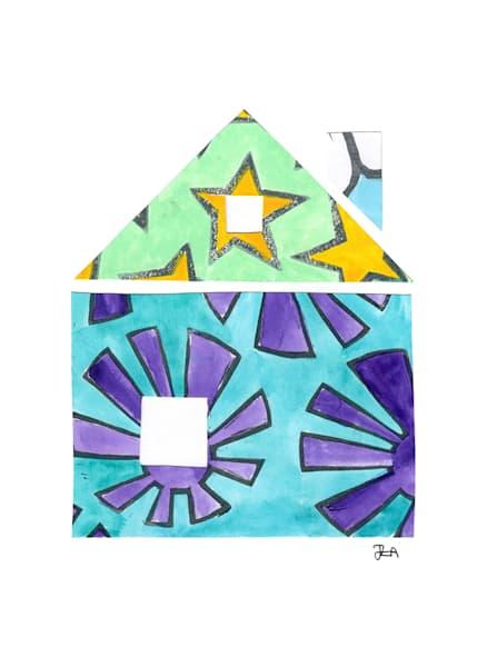House: A Postcard Print by Jennifer Akkermans