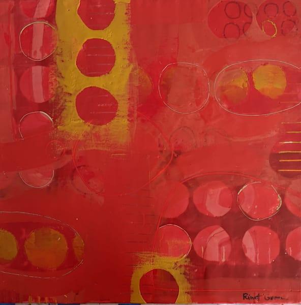 Into The Past (Red) Art | Rinat Goren