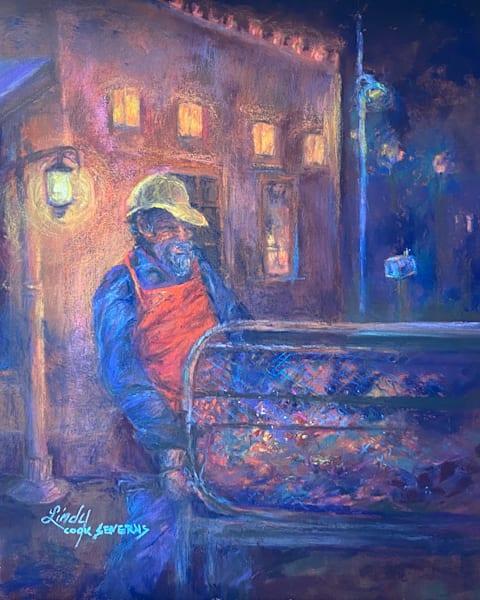 Moonlighting As A Chili Roaster, original pastel | Lindy C Severns Art