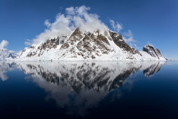 Mountains With Reflection And Clouds Mg 9862 Lemaire Channel Gerlache Strait Antarctica Photography Art | Clemens Vanderwerf Photography