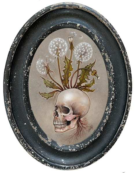Skull With Dandelions Art | Artemesia Galerie