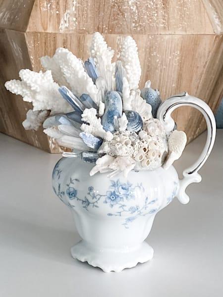Blue Floral Reef Art | Texas MerMade