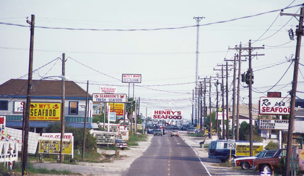 1982 - Fresh Seafood Shops in Seabrook, Texas