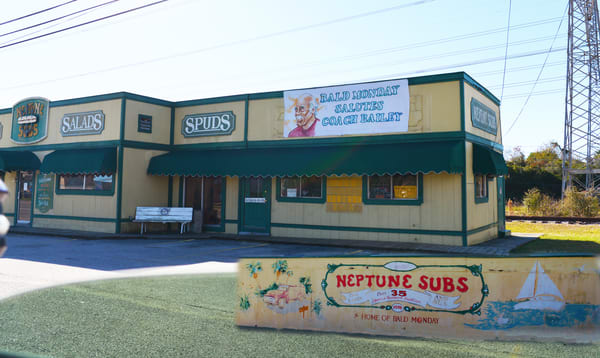 Neptune Subs Restaurant in Seabrook, Texas opened in 1976
