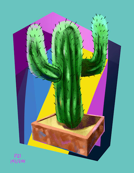 Boo Cactus Art | Matt Pierson Artworks