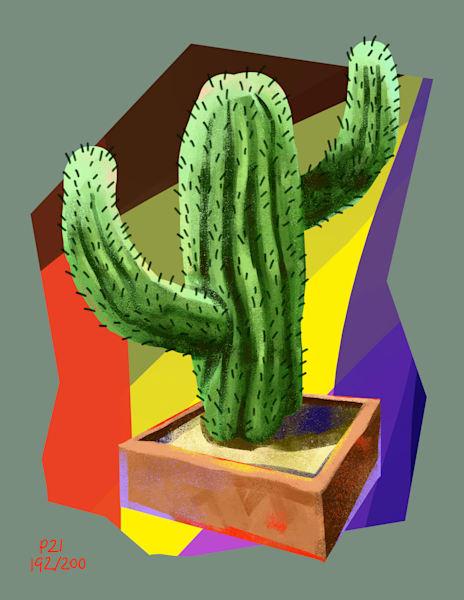 Abstract Cactus Art | Matt Pierson Artworks
