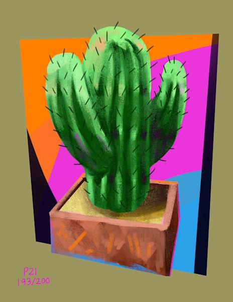 Tub Cactus Art | Matt Pierson Artworks