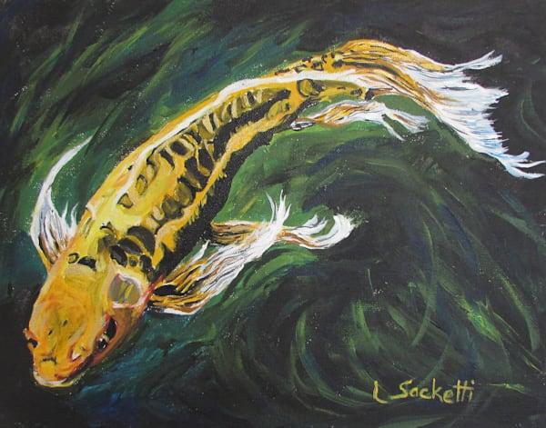 Yellow Koi Art | Linda Sacketti