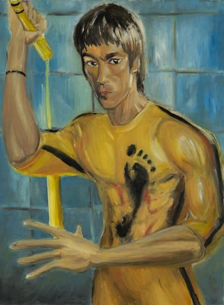 Bruce Lee   Game Of Death Art   Blac Rhino Art Group