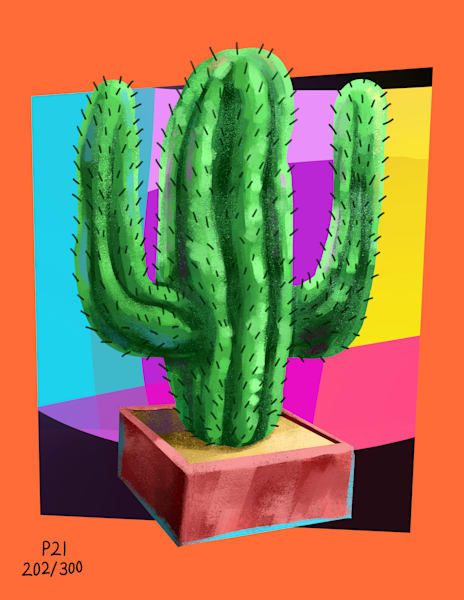 The 100th Cactus Art | Matt Pierson Artworks