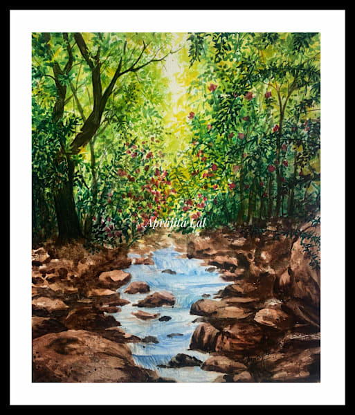 """Flashes"" in Watercolors by Aprajita Lal (Original 8x10.5)"
