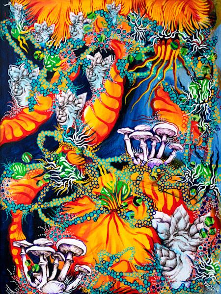 Cosmic Mushrooms Art | Hava Gurevich Art