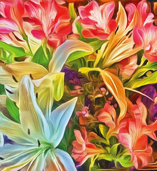 Floral  Delight Art   Rick Peterson Studio