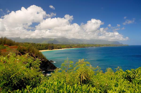 Secret Beach from Kilauea Point, Kauai, HI