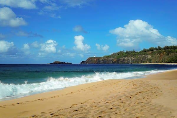 Kilauea Lighthouse from Secret Beach, Kauai, HI