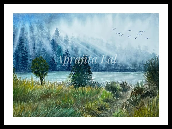 """A New Beginning"" in Watercolors by Aprajita Lal"