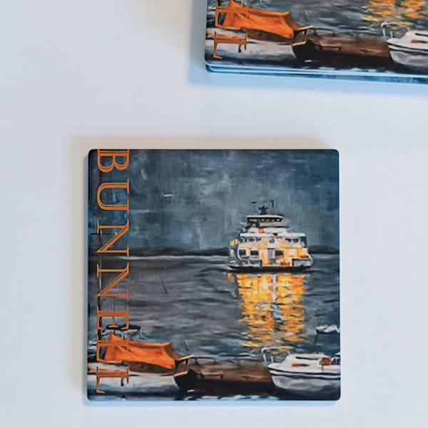 Coasters   Set Of Four Ferry | Jamie Lightfoot, Artist