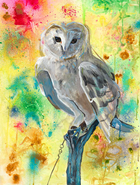 Punk Rock Owl/ Break The Jesses Art | Sarah E. McCord- Metaphysical Portraitist