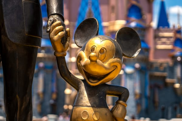 Mickey Statue And Cinderella's Castle Photography Art | William Drew Photography