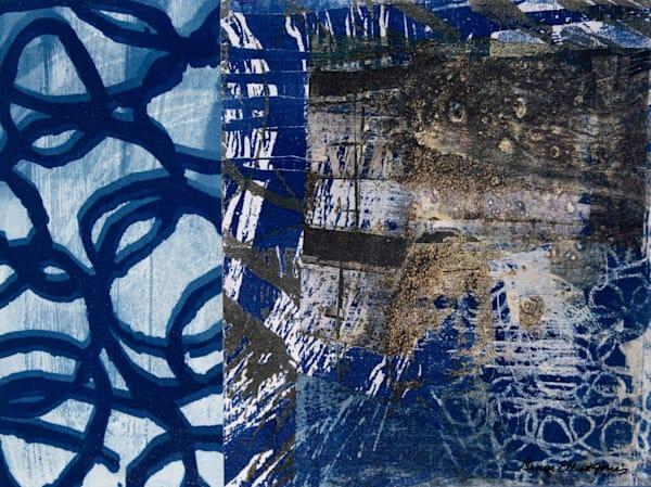 Blue Tone Contemporary Abstract by Denise Elliott Jones.