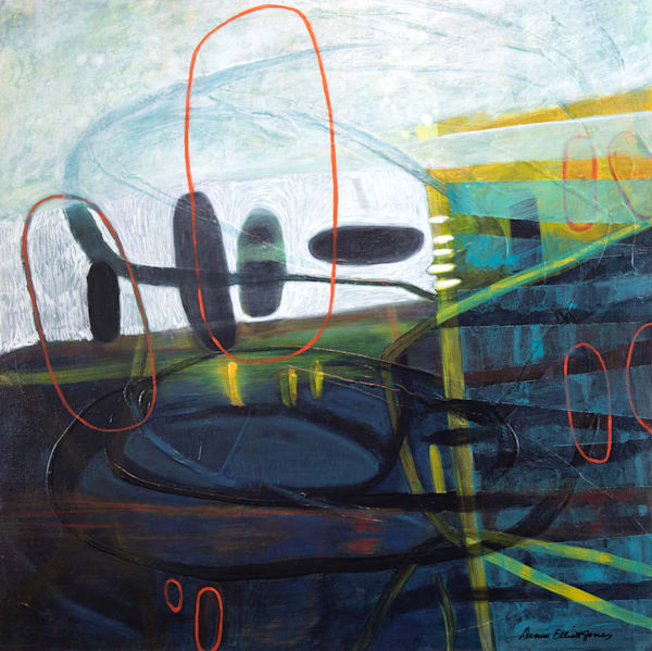 Abstract Mid Century Art Decor by Denise Elliott Jones Buy Today.