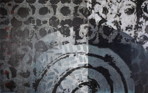Shop Cool Tone Abstracts in Blue Black Cream for Modern Decor.