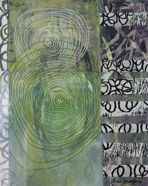 Abstract Artwork Green Tones Canvas Metals Prints Buy Now