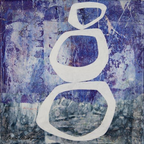 Coastal Modern Blue Wall Art Abstract by Denise Elliott Jones
