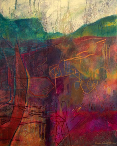 Contemporary Landscape of Ireland in Vibrant Colors Available in Prints