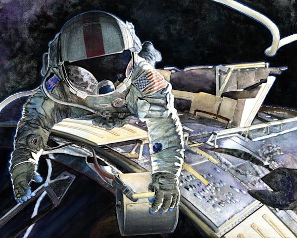 Spacewalk Original Art   Artwork by Rouch
