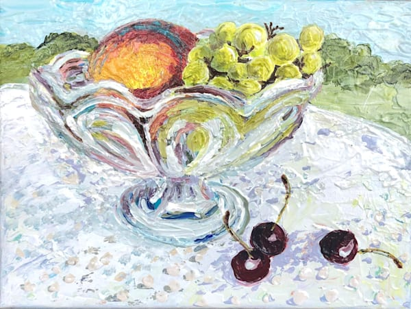 Bowl With Grapes Art | Sophie Dare Designs
