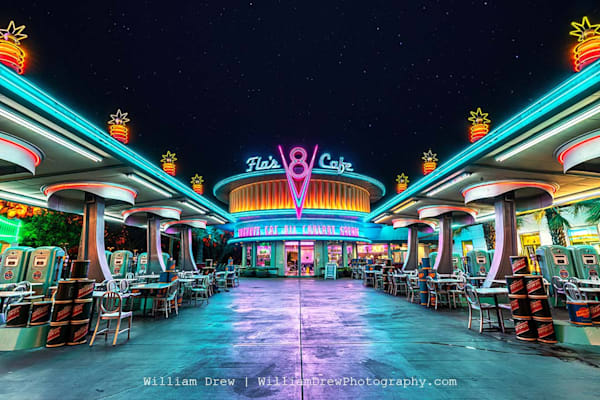 Flo's Cafe   Disneyland Wall Mural Photography Art | William Drew Photography