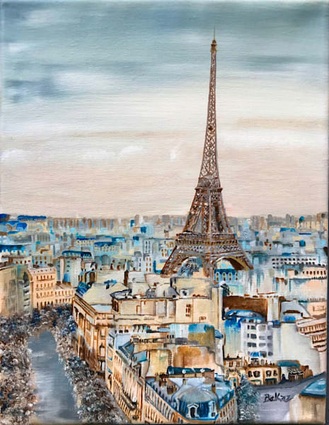 Morning Over Paris Art   Bekaz Its Art