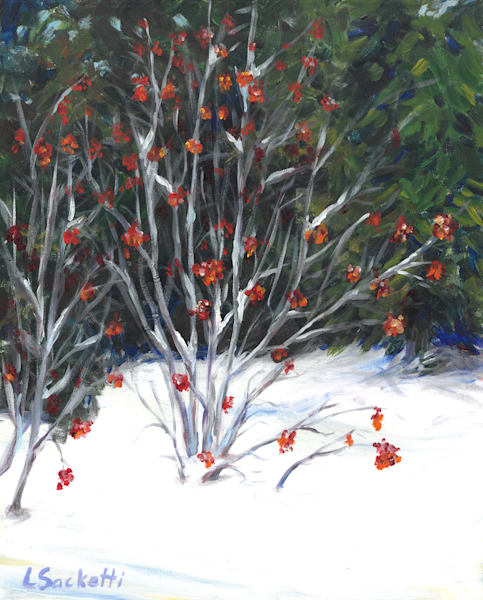 Berries In The Snow Art | Linda Sacketti