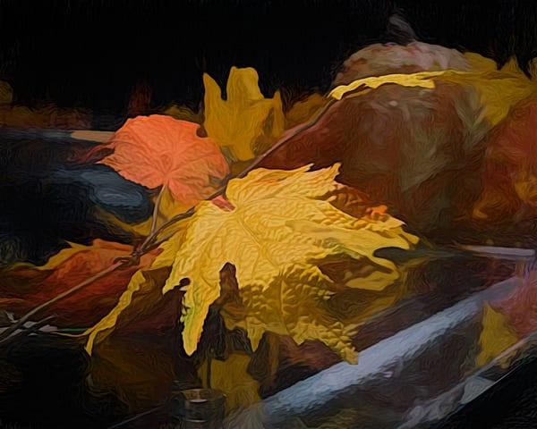 Fall Faux Foliage Painterly