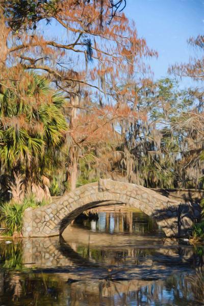 New Orleans City Park Scene