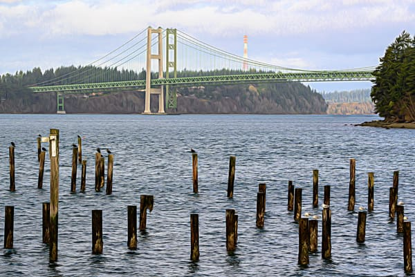 The Bridges from Titlow Painterly