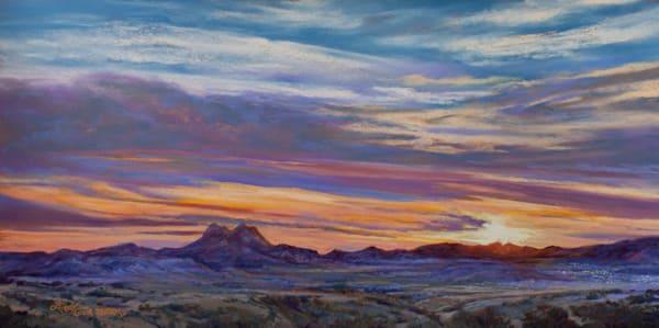 Lindy Cook Severns Art | The Lights of Alpine Texas, enhanced print