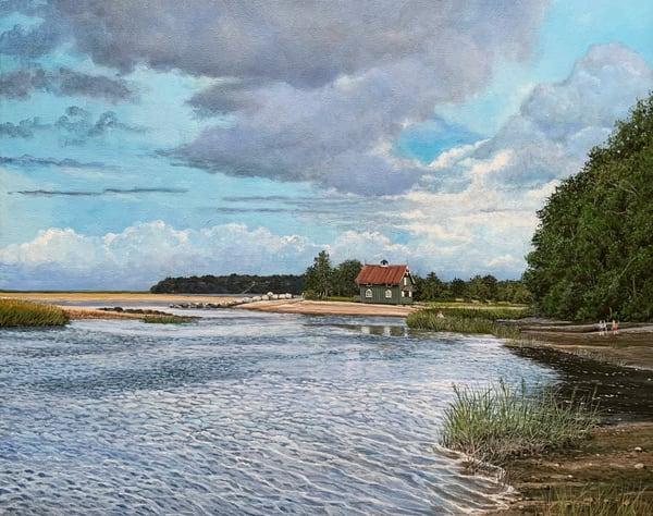 Gamecock Cottage #2 Art   Skip Marsh Art