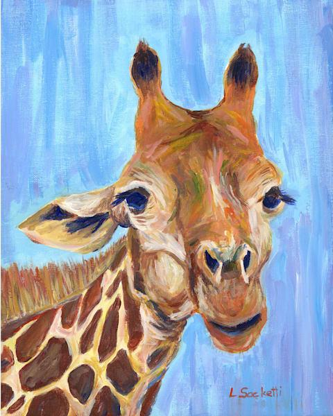 "Limited Edition ""Portrait Of A Giraffe"" Art | Linda Sacketti"