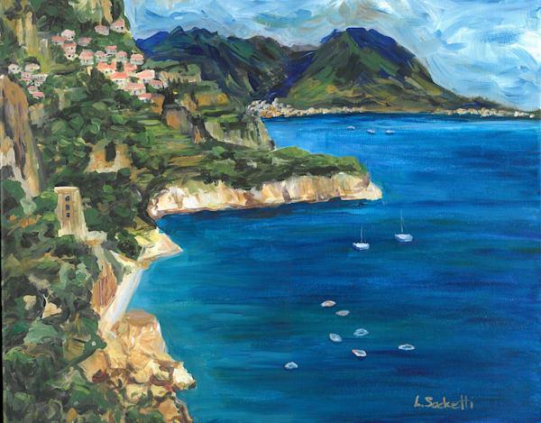 "Limited Edition ""Amalfi Coast"" Art | Linda Sacketti"