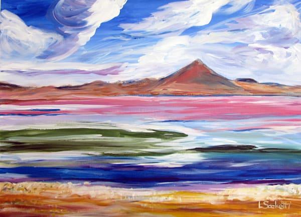 "Limited Edition ""Pink Lagoon 2"" Art | Linda Sacketti"