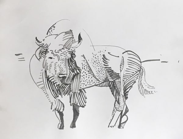 Cubist American Buffalo Art   michaelwilson