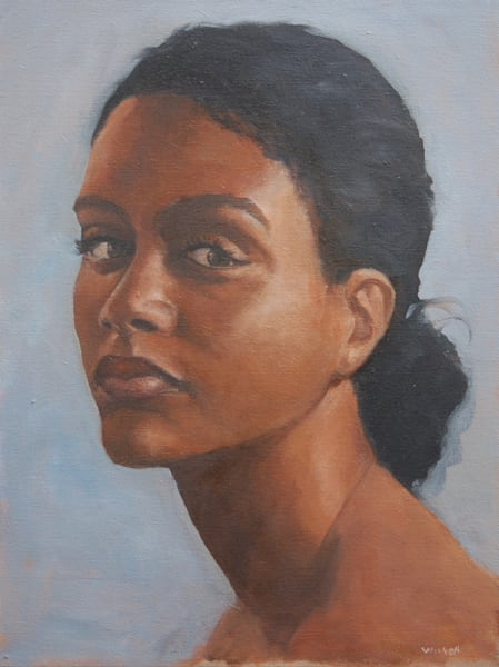 Young Woman With Black Hair Art | michaelwilson